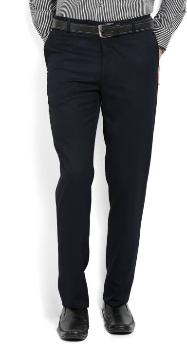 John Players Slim Fit Mens Black Trousers