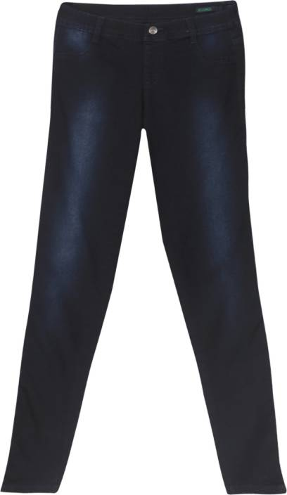 United Colors of Benetton. Skinny Fit Women's Blue Trousers