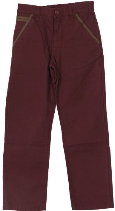 U S Polo Kids Regular Fit Boys Purple Trousers