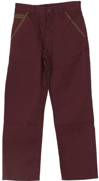 U S Polo Kids Regular Fit Boys Purple Trousers