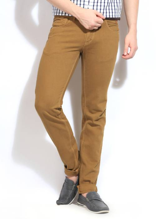 Scullers Sport Slim Fit Men's Beige Trousers