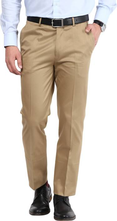GIVO Slim Fit Men's Brown Trousers