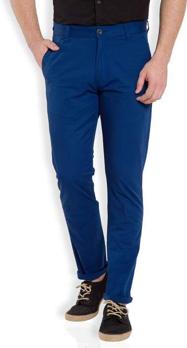 91c73a60e69 Highlander Slim Fit Men s Dark Blue Trousers - Buy INDIGO Highlander Slim  Fit Men s Dark Blue Trousers Online at Best Prices in India