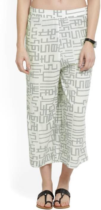 W Regular Fit Women's White Trousers