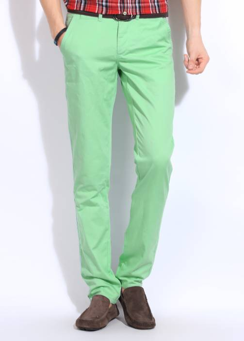 United Colors of Benetton. Slim Fit Men's Green Trousers