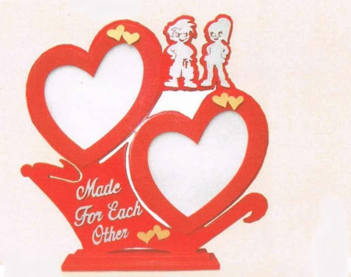 Handicraft Valentine Gift Red Made For Each Other Photoframe