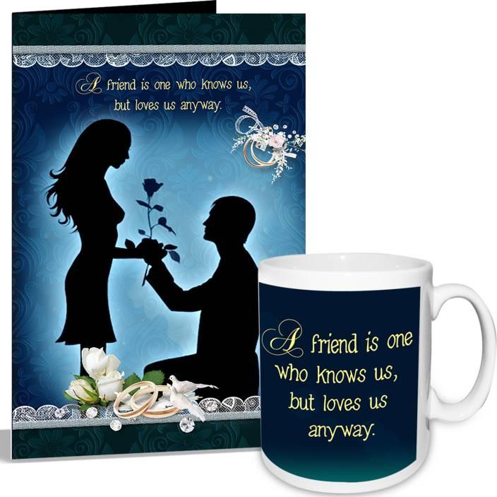 alwaysgift Propose Day Greeting Card & Mug Hamper Mug Gift Set