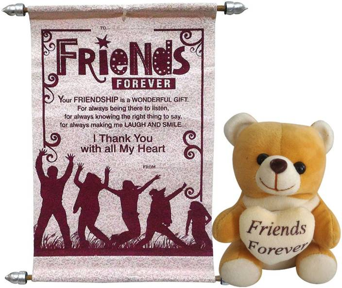 Natali Traders NT0002035 Greeting Card, Soft Toy Gift Set