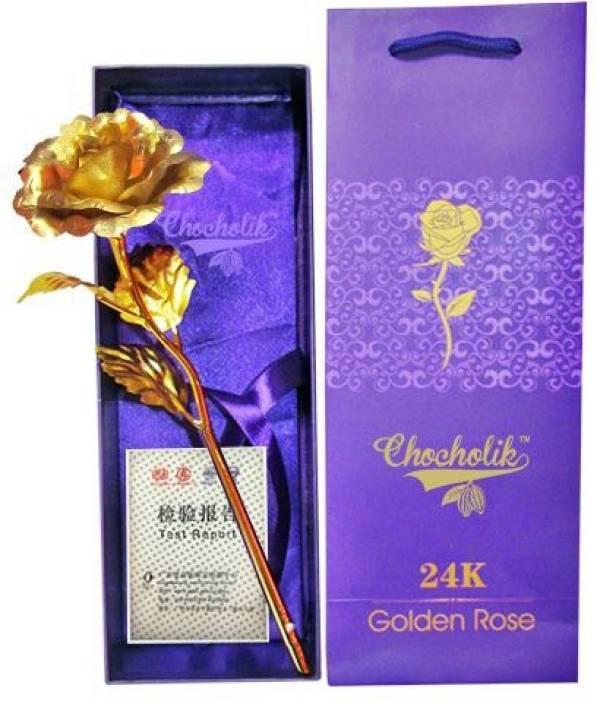 ZBLACK golden rose artifical flower gift set Artificial Flower Gift Set