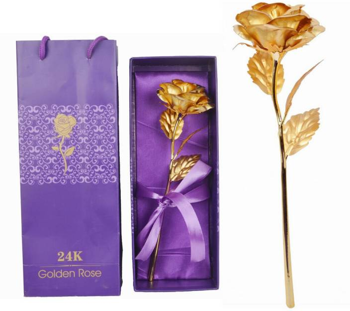 ShadowFax Golden Foil Rose Artificial Flower Gift Set