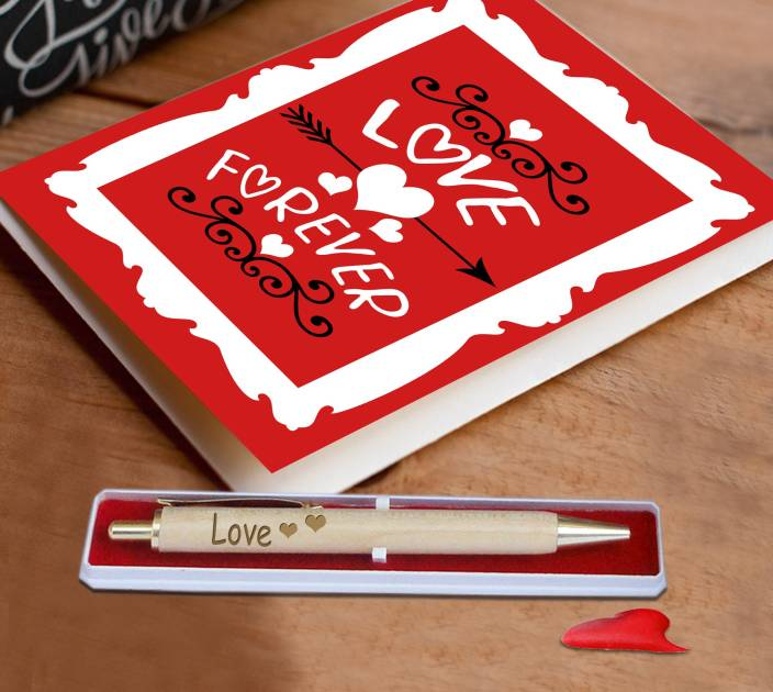 Tiedribbons Love forever card and pen for wife,girl friend,husband or boy friend Greeting Card Gift Set
