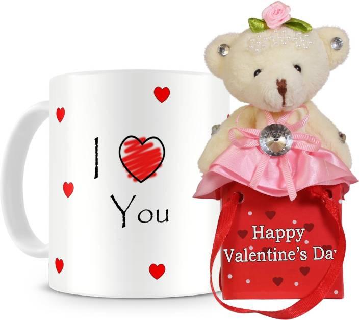 Everyday Gifts Love You Valentine S Day Mug Mug Soft Toy Gift Set