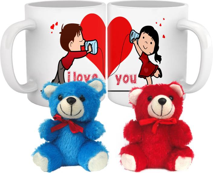 Tiedribbons Valentine S Day Special Kiss Day Kissing Teddy In Mugs