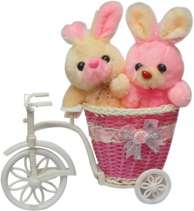 Ctw 2 Cute Teddy Bear With Big Beautiful Cycle Showpiece