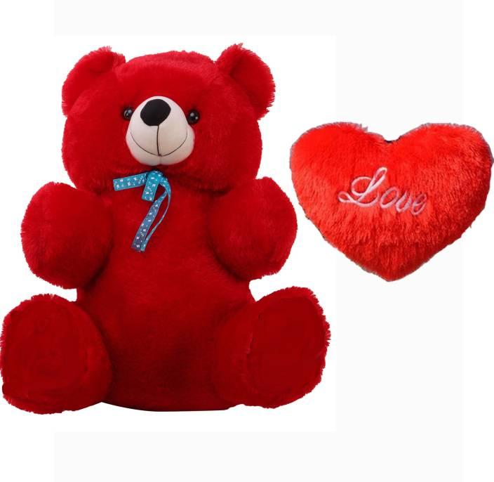 GRJ India Soft Teddy Bear Red-12 Soft Toy Gift Set