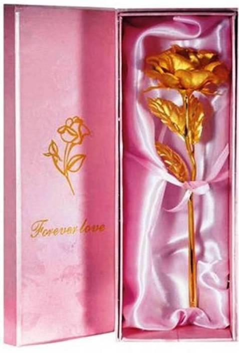 Khandelwal Jeweller VALENTINE ROSE Artificial Flower Gift Set