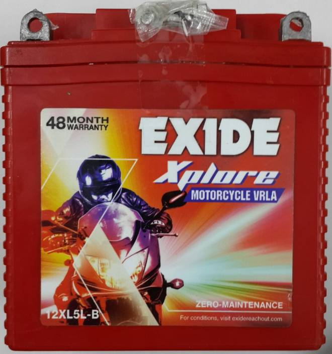 EXIDE 12XL5L-B 5 Ah Battery for Bike