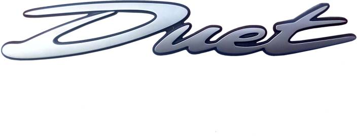 KASCN DUET PETROL TANK MONOGRAM SET CHROME PLATED Hero Emblem Price