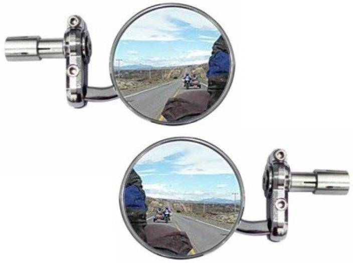 ACCESSOREEZ Manual Rear View Mirror For Hero Splendor Pro
