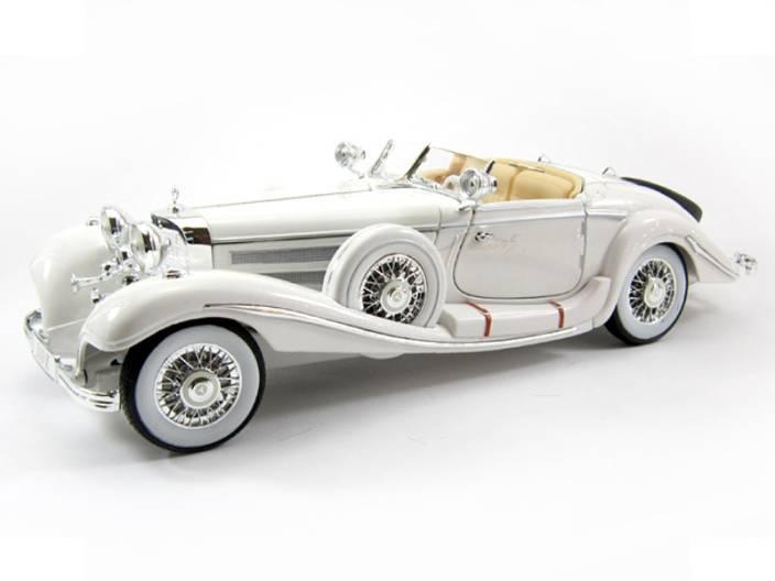 Maisto 1936 Mercedes Benz 500k Typ Roadster White 1 18 Diecast Scale