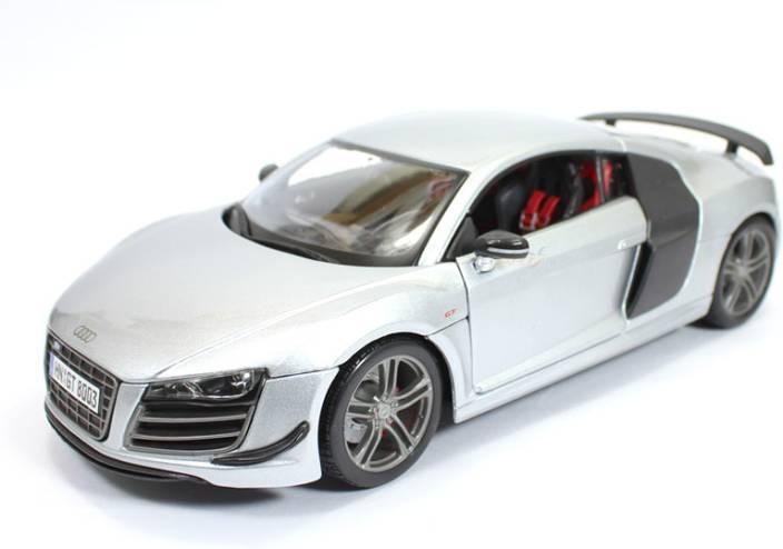 MAISTO Audi R8 GT Silver 1:18 by Maisto Diecast Scale Model Car - Audi R8 GT Silver 1:18 by ...