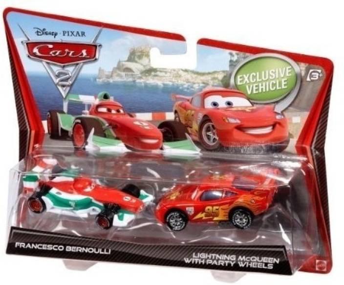 52d33a560382 Mattel Disney Pixar Cars 2 Movie 155 Die Cast Car 2Pack Francesco Bernoulli Lightning  McQueen - Disney Pixar Cars 2 Movie 155 Die Cast Car 2Pack Francesco ...