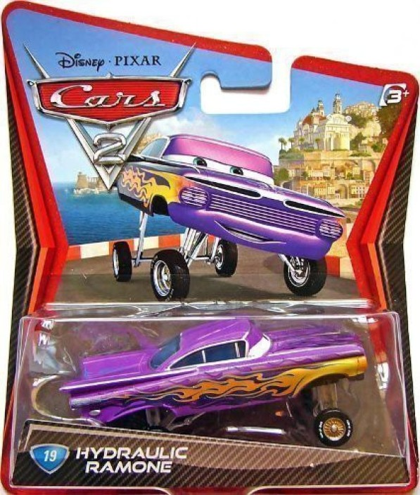 Disney Cars Purple Ramone Hydro Wheels Pull Back Car Vehicle Bath Toy