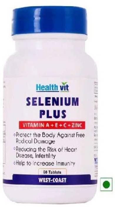 Healthvit Selenium Plus Vitamins A C E Zinc 60 Tablets Price In
