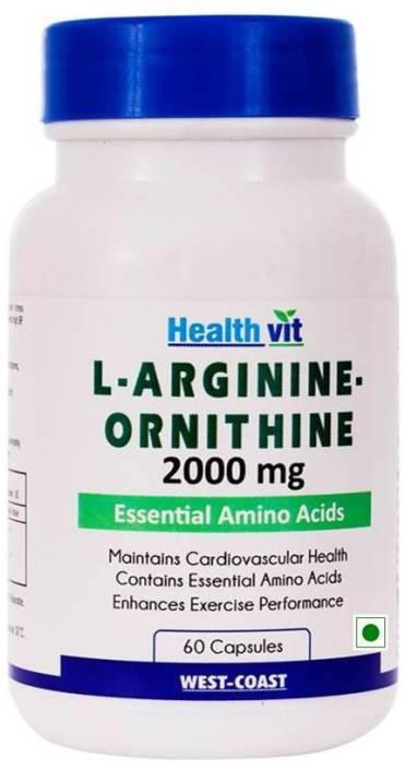 HealthVit L-Arginine-Ornithine 2000 mg 60 Capsules Price in India ... 7ec2cd55f13e