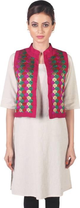 Morpunc Mrigni Self Design Women's Waistcoat