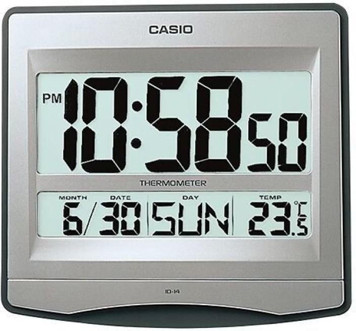casio digital wall clock