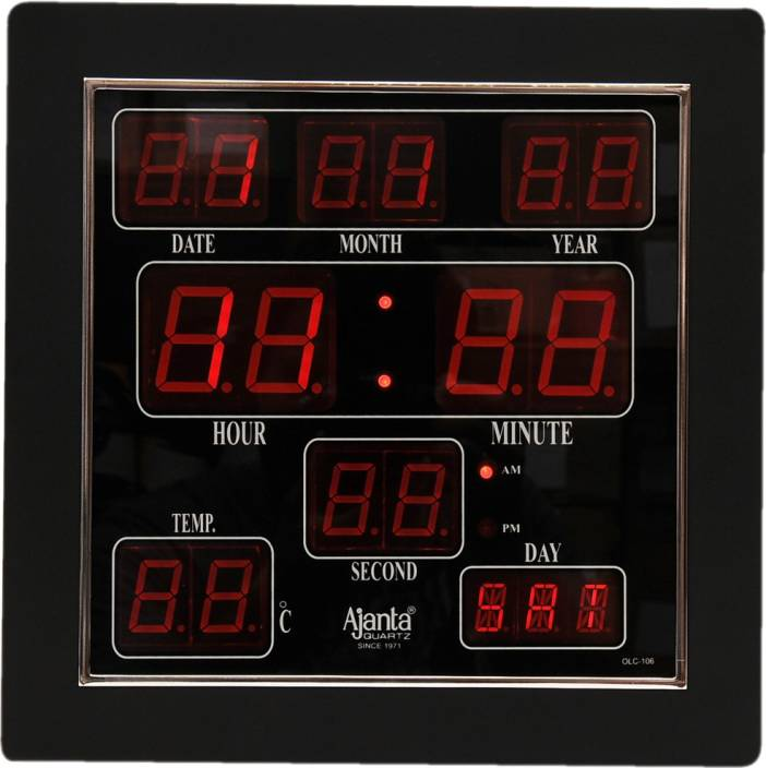 Led wall clock flipkart 12000 wall clocks for Led digital wall clock in india