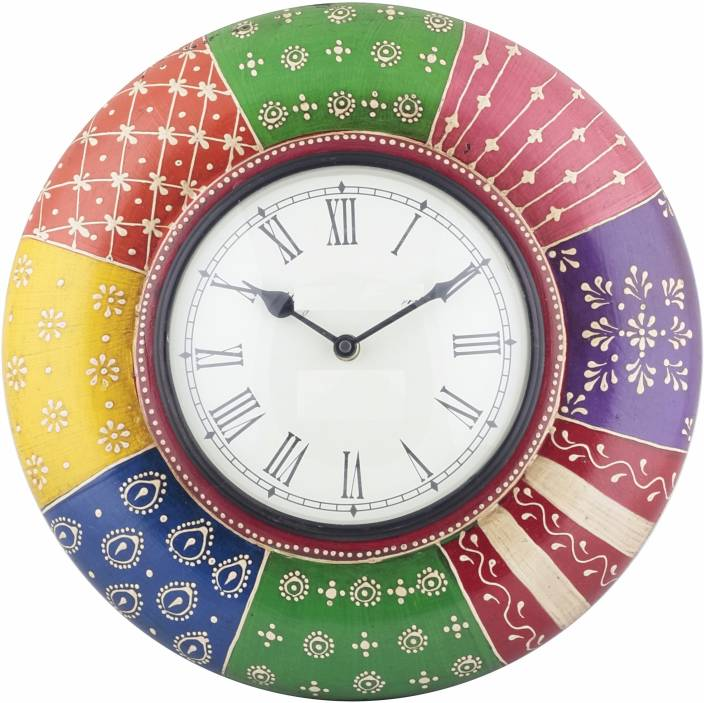 Swagger Analog Wall Clock (Multicolor, With Glass)