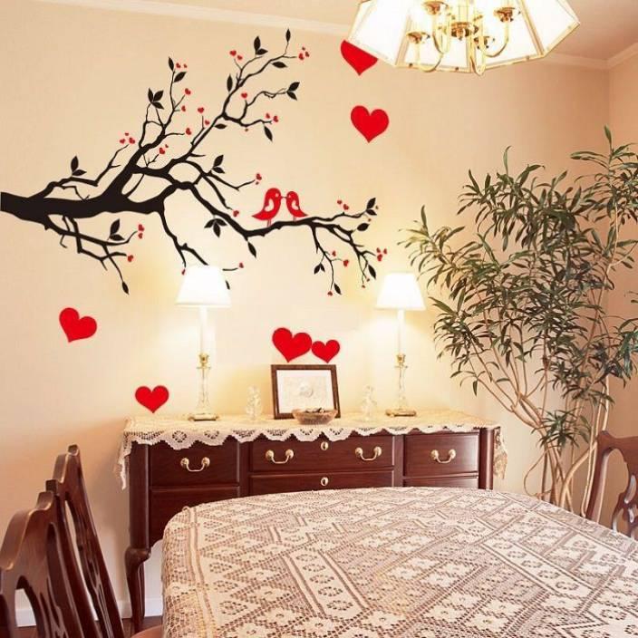oren empower love theme decorative brach wall sticker price in india