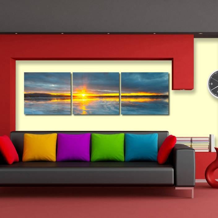 999 Store Multiple Frames Printed Sunrise Like Modern Wall