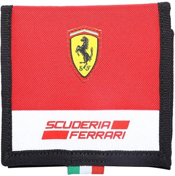 e20a8fc7c80e2 Puma Men Red Fabric Wallet Ferrari Red - Price in India