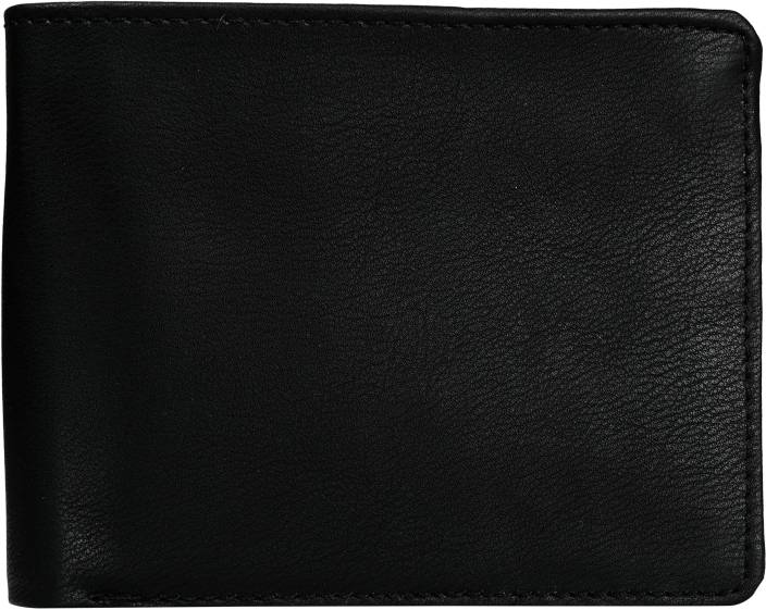 Exotique Men Black Genuine Leather Wallet