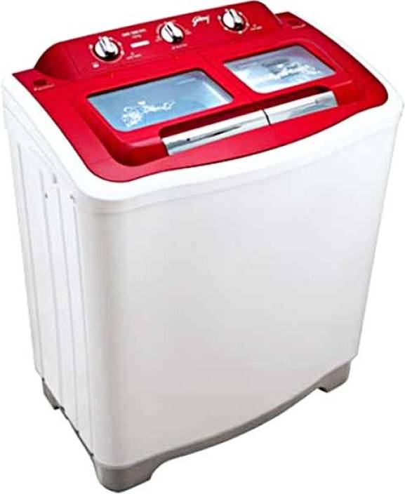 Godrej 6.5 kg Semi Automatic Top Load Washing Machine Red
