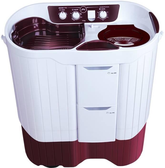 Godrej 7.5 kg Semi Automatic Top Load Washing Machine Red