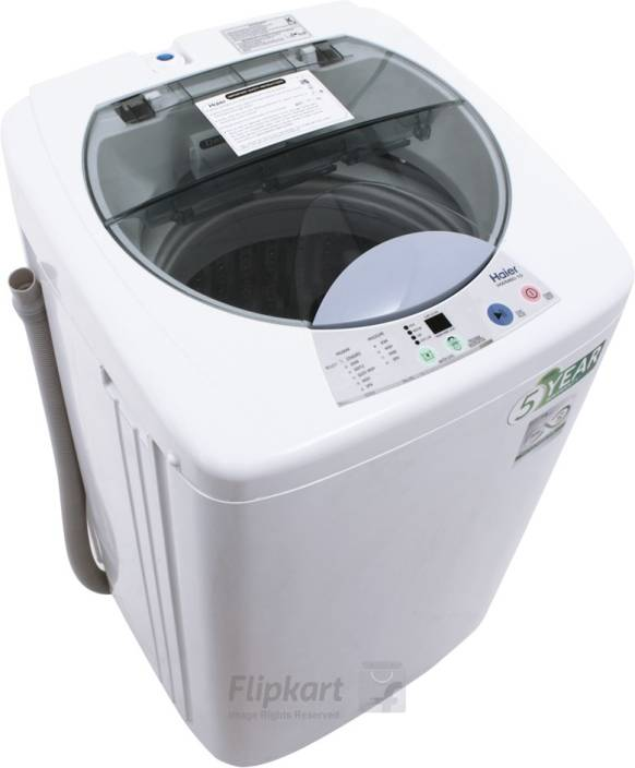 Haier 6 kg Fully Automatic Top Load Washing Machine White