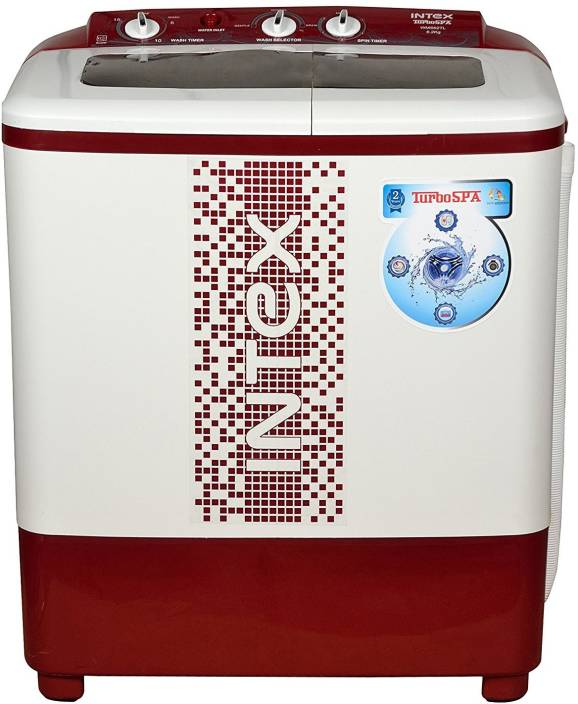 60eb3c59ca1 Intex 6.2 kg Semi Automatic Top Load Washing Machine Maroon Price in ...