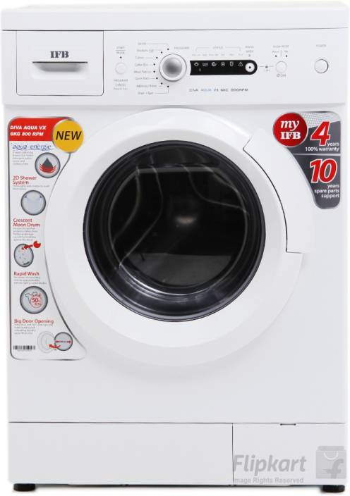 IFB 6 kg Fully Automatic Front Load Washing Machine White