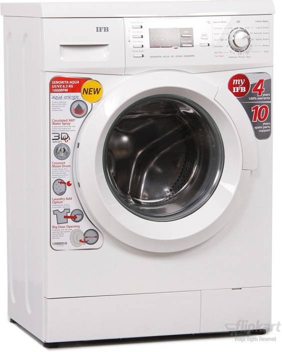 IFB 6.5 kg Fully Automatic Front Load Washing Machine White