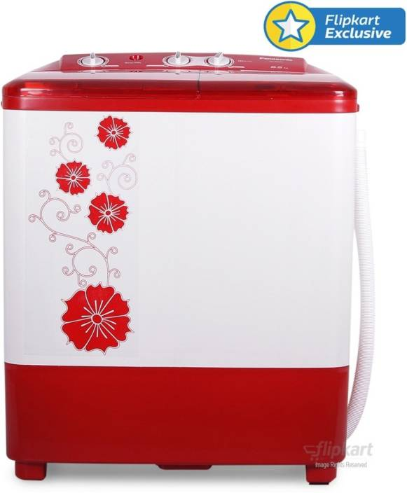 Panasonic 6.5 kg Semi Automatic Top Load Washing Machine Red
