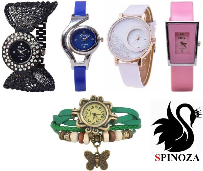 97973854a SPINOZA glory multicolor watches and mxre pink leather belt watches for girls  set of 5 Watch - For Women - Buy SPINOZA glory multicolor watches and mxre  ...