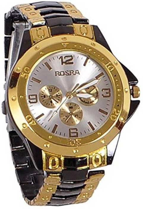 Rosra Gold Black-120 Watch  - For Men