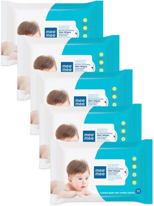 MeeMee Caring Baby Wet Wipes with Lemon Fragrance