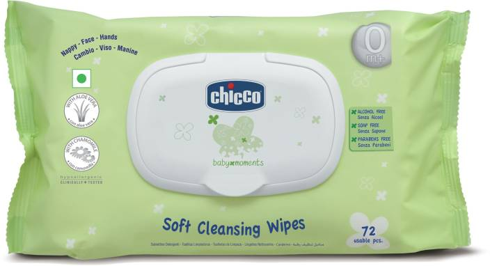 Chicco Wipes Fliptop Pack 72 Pcs