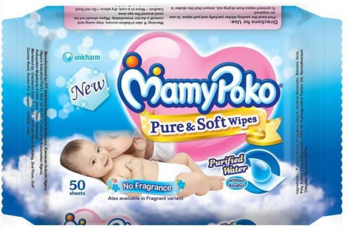 MamyPoko Pure and Soft Wipes-Non Fragrance