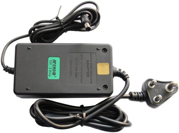 ERD SMPS ADAPTOR 12V-2Amp DESKTOP TYPE Worldwide Adaptor BLACK ...